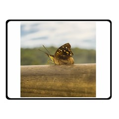 Butterfly against Blur Background at Iguazu Park Double Sided Fleece Blanket (Small)