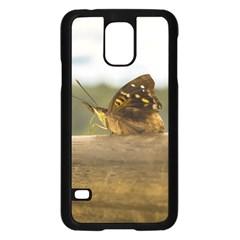 Butterfly against Blur Background at Iguazu Park Samsung Galaxy S5 Case (Black)