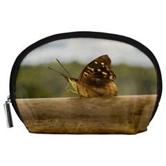Butterfly against Blur Background at Iguazu Park Accessory Pouches (Large)