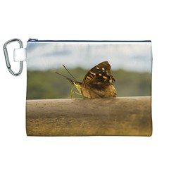 Butterfly against Blur Background at Iguazu Park Canvas Cosmetic Bag (XL)
