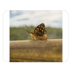 Butterfly Against Blur Background At Iguazu Park Double Sided Flano Blanket (large)