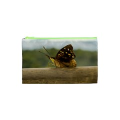 Butterfly against Blur Background at Iguazu Park Cosmetic Bag (XS)