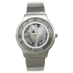 American Eskimo Dog Full Stainless Steel Watches