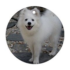 American Eskimo Dog Full Round Ornament (Two Sides)