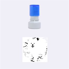 American Eskimo Dog Full Rubber Round Stamps (Small)