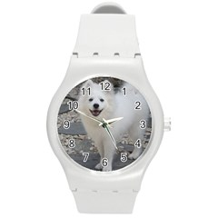 American Eskimo Dog Full Round Plastic Sport Watch (M)