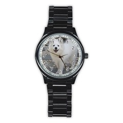 American Eskimo Dog Full Stainless Steel Round Watches