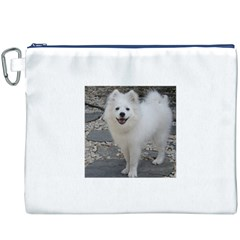 American Eskimo Dog Full Canvas Cosmetic Bag (XXXL)