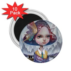 World Peace 2 25  Magnets (10 Pack)