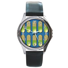 Capsule Pattern Round Metal Watches