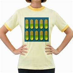 Capsule Pattern Women s Fitted Ringer T-Shirts