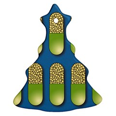 Capsule Pattern Christmas Tree Ornament (2 Sides)