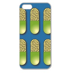 Capsule Pattern Apple Seamless iPhone 5 Case (Clear)
