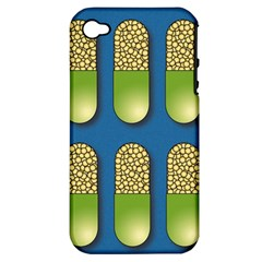 Capsule Pattern Apple iPhone 4/4S Hardshell Case (PC+Silicone)