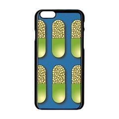 Capsule Pattern Apple iPhone 6/6S Black Enamel Case