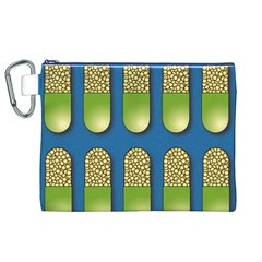 Capsule Pattern Canvas Cosmetic Bag (XL)