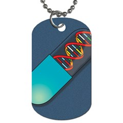 Dna Capsule Dog Tag (One Side)