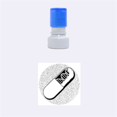 Dna Capsule Rubber Round Stamps (small)
