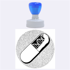 Dna Capsule Rubber Round Stamps (Large)