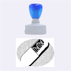 Dna Capsule Rubber Oval Stamps