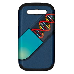 Dna Capsule Samsung Galaxy S III Hardshell Case (PC+Silicone)