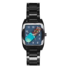 Dna Capsule Stainless Steel Barrel Watch