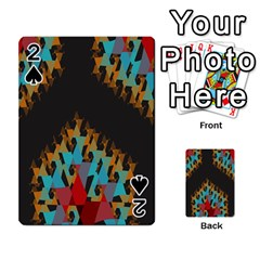 Blue, Gold, and Red Pattern Playing Cards 54 Designs