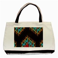 Blue, Gold, And Red Pattern Basic Tote Bag (two Sides)