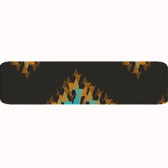 Blue, Gold, And Red Pattern Large Bar Mats