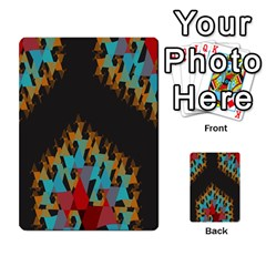 Blue, Gold, And Red Pattern Multi Purpose Cards (rectangle)