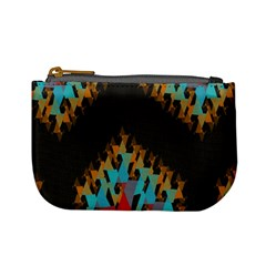 Blue, Gold, and Red Pattern Mini Coin Purses