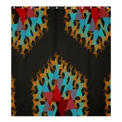 Blue, Gold, And Red Pattern Shower Curtain 66  X 72  (large)