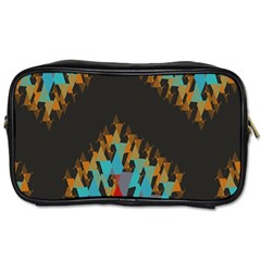 Blue, Gold, and Red Pattern Toiletries Bags 2-Side