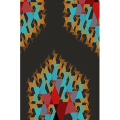 Blue, Gold, and Red Pattern 5.5  x 8.5  Notebooks
