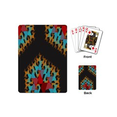 Blue, Gold, And Red Pattern Playing Cards (mini)