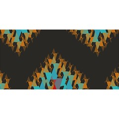 Blue, Gold, and Red Pattern YOU ARE INVITED 3D Greeting Card (8x4)
