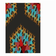 Blue, Gold, And Red Pattern Small Garden Flag (two Sides)
