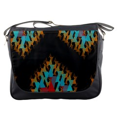 Blue, Gold, And Red Pattern Messenger Bags
