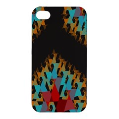 Blue, Gold, and Red Pattern Apple iPhone 4/4S Premium Hardshell Case