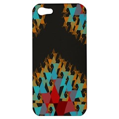 Blue, Gold, and Red Pattern Apple iPhone 5 Hardshell Case