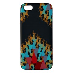 Blue, Gold, and Red Pattern Apple iPhone 5 Premium Hardshell Case