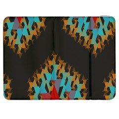 Blue, Gold, and Red Pattern Samsung Galaxy Tab 7  P1000 Flip Case