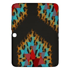 Blue, Gold, and Red Pattern Samsung Galaxy Tab 3 (10.1 ) P5200 Hardshell Case