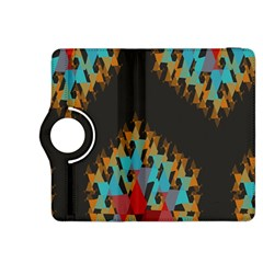 Blue, Gold, and Red Pattern Kindle Fire HDX 8.9  Flip 360 Case