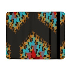 Blue, Gold, And Red Pattern Samsung Galaxy Tab Pro 8 4  Flip Case