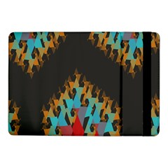 Blue, Gold, And Red Pattern Samsung Galaxy Tab Pro 10 1  Flip Case