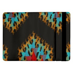 Blue, Gold, And Red Pattern Samsung Galaxy Tab Pro 12 2  Flip Case