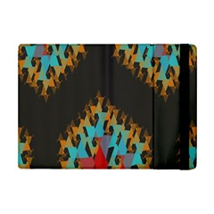 Blue, Gold, And Red Pattern Ipad Mini 2 Flip Cases