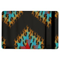 Blue, Gold, and Red Pattern iPad Air Flip