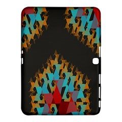 Blue, Gold, And Red Pattern Samsung Galaxy Tab 4 (10 1 ) Hardshell Case